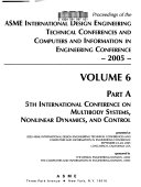 Proceedings Of The Asme International Design Engineering Technical Conferences And Computers And Information In Engineering Conferences 2005 Book PDF