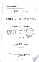 Returns of the Railroad Corporations in Massachusetts ...