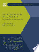 High pressure Fluid Phase Equilibria Book