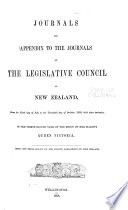 Journals of the Legislative Council of the Dominion of New Zealand Book
