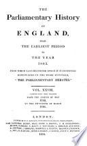 Cobbett S Parliamentary History Of England Book
