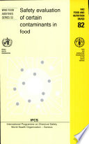 Safety Evaluation Of Certain Contaminants In Food