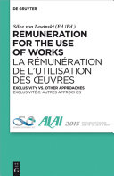Remuneration for the Use of Works