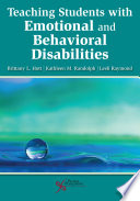 Teaching Students with Emotional and Behavioral Disabilities