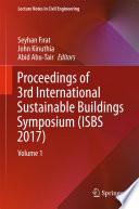Proceedings Of 3rd International Sustainable Buildings Symposium Isbs 2017  Book PDF