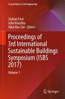 Proceedings of 3rd International Sustainable Buildings Symposium  ISBS 2017