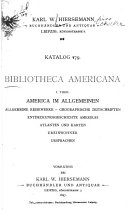 Bibliotheca Americana. I.-IV. Th