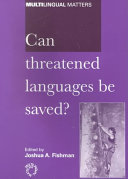 Can Threatened Languages be Saved