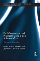 Pdf Real Governance and Practical Norms in Sub-Saharan Africa Telecharger