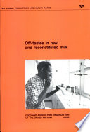 Off tastes in Raw and Reconstituted Milk Book