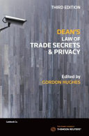 Dean s Law of Trade Secrets and Privacy