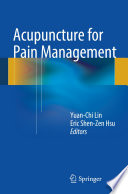 Acupuncture for Pain Management Book