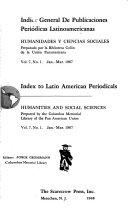 Indice general de publicaciones peri  dicas latinoamericanas Book PDF