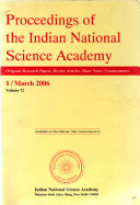 Proceedings of the Indian National Science Academy Book
