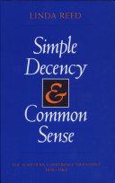 Simple Decency   Common Sense