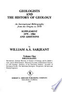 Geologists and the History of Geology: Bibliography