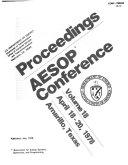 Proceedings   AESOP Conference  volume 18   April 18 20  1978  Amarillo  Texas