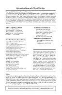 International Journal of Sport Nutrition