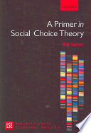 A Primer in Social Choice Theory