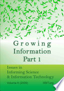 Growing Information  Part I