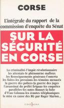 Pdf Corse : l'intégrale du rapport de la commission d'enquête du Sénat sur la sécurité en Corse Telecharger