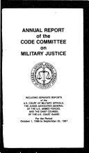 Annual Report of the Code Committee on Military Justice
