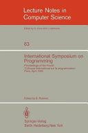 International Symposium on Programming