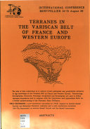 Terranes in the Variscan Belt of France and Western Europe    Abstracts