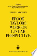 Brook Taylor   s Work on Linear Perspective