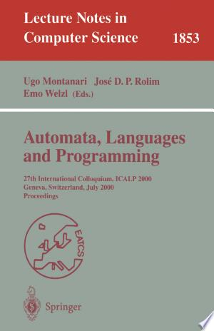 Download Automata, Languages and Programming Free Books - Dlebooks.net
