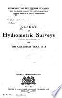 Report of Hydrometric Surveys [Stream Measurements]