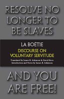 Pdf Discourse on Voluntary Servitude Telecharger
