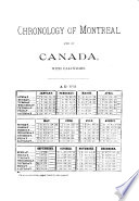 A Chronology Of Montreal And Of Canada Book PDF
