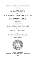 Catalogue of Scientific and Technical Periodicals