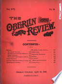 The Oberlin Review Book PDF