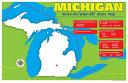 Michigan Write On Wipe Off Desk Mat   State Map Book PDF