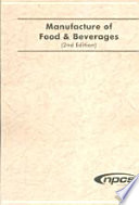Manufacture Of Food Beverages 2nd Edn
