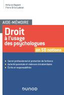 Pdf Aide-mémoire - Droit à l'usage des psychologues Telecharger