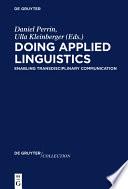 Doing Applied Linguistics