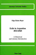 Exile in Argentina  1933 1945