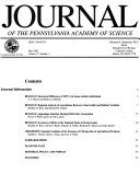 Journal of the Pennsylvania Academy of Science
