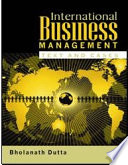 International Business Management Text And Cases  Book PDF