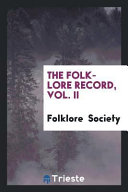 The Folk Lore Record Vol Ii
