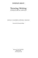 Tutoring Writing