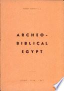archeobiblical egypt