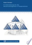 IT-Unterstützung für das Wissensmanagement in Kooperationen