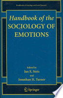 Handbook of the Sociology of Emotions Book