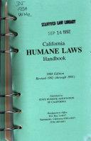 California Humane Laws Handbook