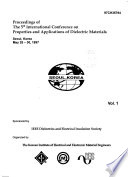 Proceedings of the 5th International Conference on Properties and Applications of Dielectric Materials, Seoul, Korea, May 25-30, 1997