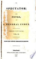 The Spectator  with Notes  and a General Index Book